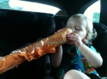 French bread is the best snack!